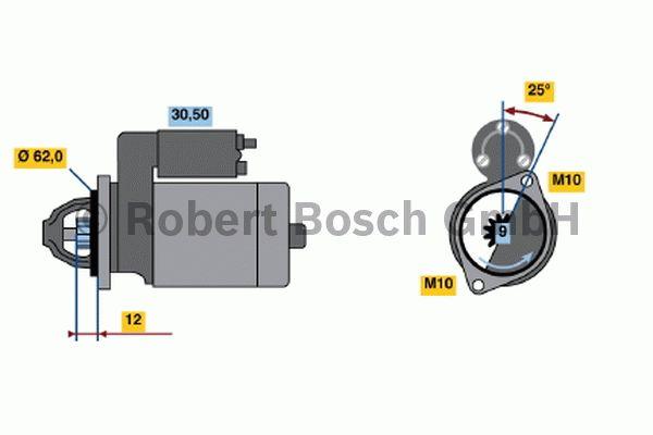 Démarreur - BOSCH - 0 001 106 407