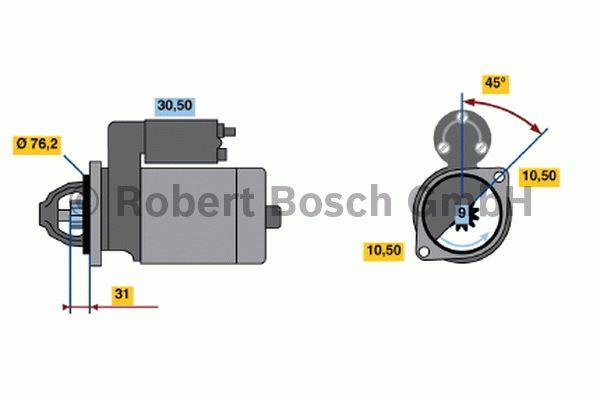 Démarreur - BOSCH - 0 001 107 024