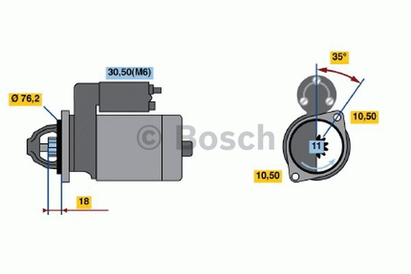 Démarreur - BOSCH - 0 001 107 046