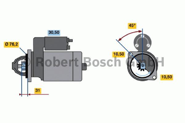 Démarreur - BOSCH - 0 001 107 058