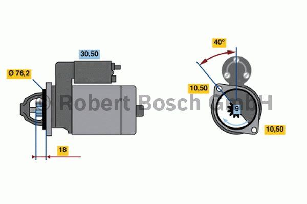 Démarreur - BOSCH - 0 001 107 062