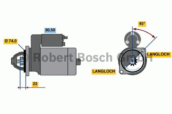 Démarreur - BOSCH - 0 001 107 078