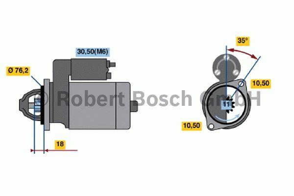 Démarreur - BOSCH - 0 001 107 107