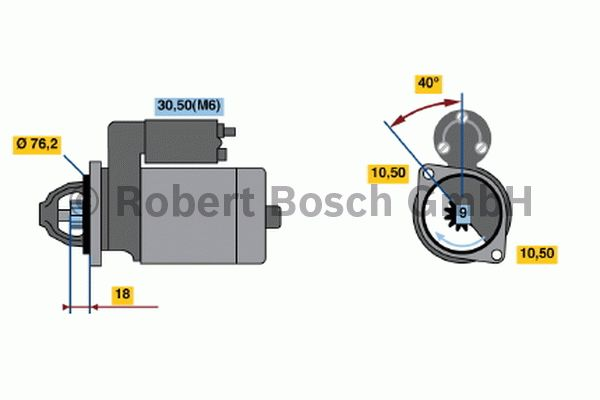Démarreur - BOSCH - 0 001 107 430