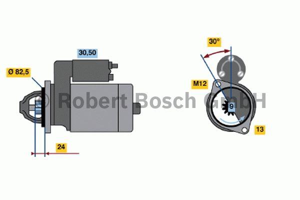 Démarreur - BOSCH - 0 001 108 147