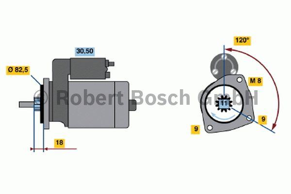 Démarreur - BOSCH - 0 001 109 049