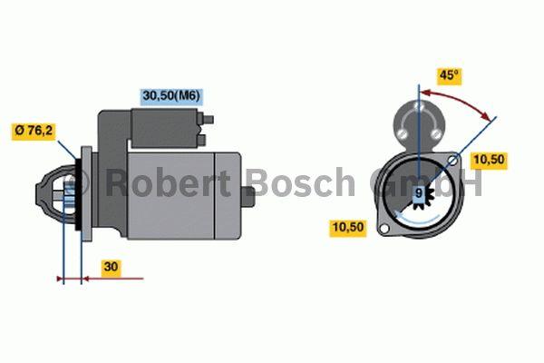 Démarreur - BOSCH - 0 001 109 028