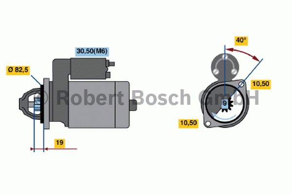 Démarreur - BOSCH - 0 001 109 031