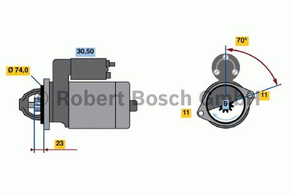 Démarreur - BOSCH - 0 001 109 035