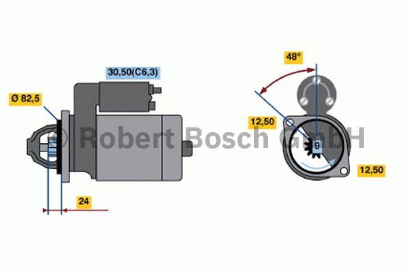 Démarreur - BOSCH - 0 001 109 047
