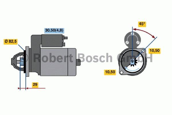 Démarreur - BOSCH - 0 001 109 330
