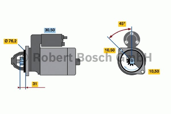 Démarreur - BOSCH - 0 001 115 035