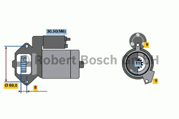 Démarreur - BOSCH - 0 001 139 015