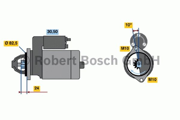 Démarreur - BOSCH - 0 001 219 008