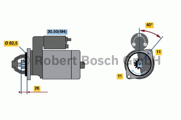 Démarreur - BOSCH - 0 001 223 021