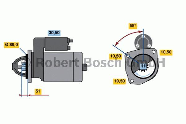 Démarreur - BOSCH - 0 001 230 002