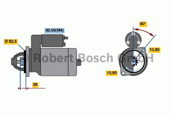 Démarreur - BOSCH - 0 001 230 013