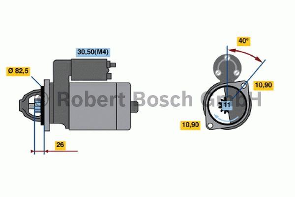 Démarreur - BOSCH - 0 001 231 006