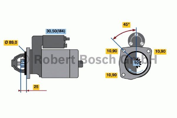 Démarreur - BOSCH - 0 001 231 009