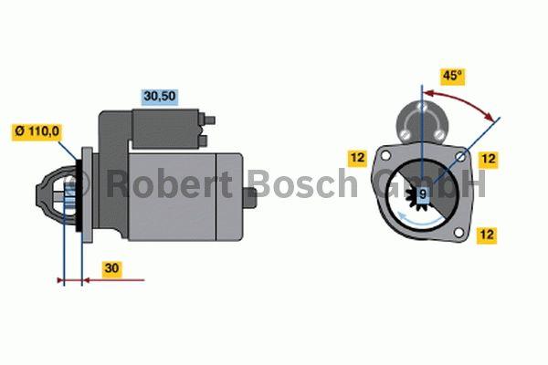 Démarreur - BOSCH - 0 001 231 011