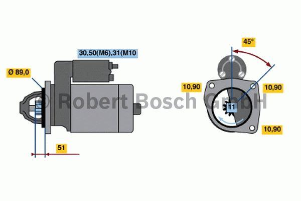Démarreur - BOSCH - 0 001 231 014
