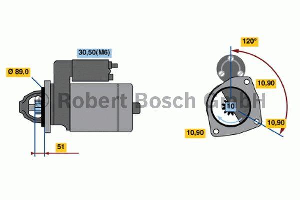 Démarreur - BOSCH - 0 001 231 016