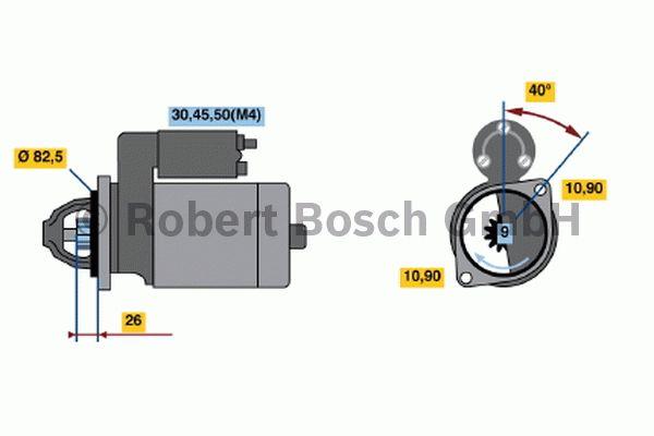 Démarreur - BOSCH - 0 001 231 018