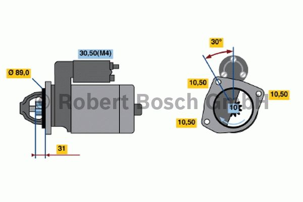 Démarreur - BOSCH - 0 001 231 029
