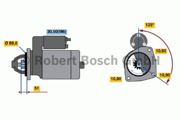 Démarreur - BOSCH - 0 001 231 033