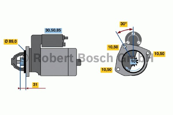 Démarreur - BOSCH - 0 001 231 035
