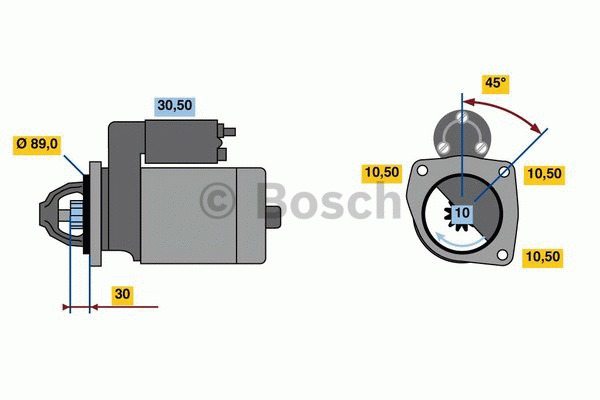 Démarreur - BOSCH - 0 001 262 020