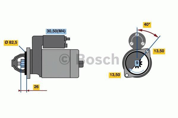 Démarreur - BOSCH - 0 001 262 029