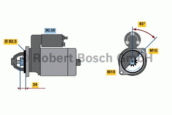 Démarreur - BOSCH - 0 001 314 044