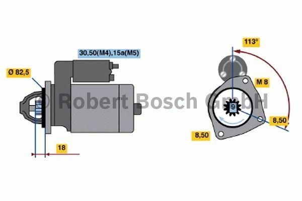 Démarreur - BOSCH - 0 001 316 001