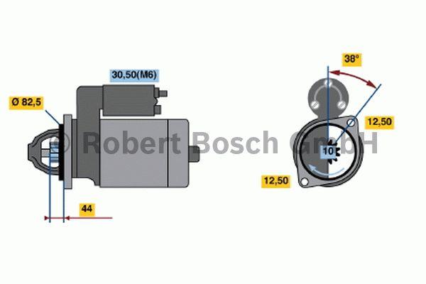 Démarreur - BOSCH - 0 001 316 013