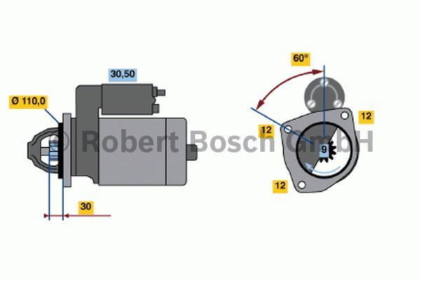 Démarreur - BOSCH - 0 001 363 111
