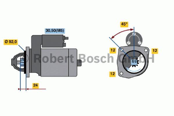 Démarreur - BOSCH - 0 001 362 090