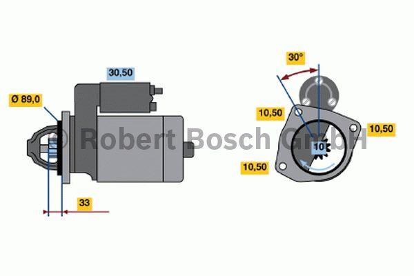 Démarreur - BOSCH - 0 001 362 100