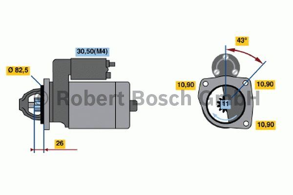 Démarreur - BOSCH - 0 001 362 700
