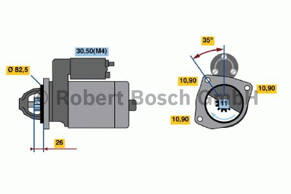 Démarreur - BOSCH - 0 001 362 701