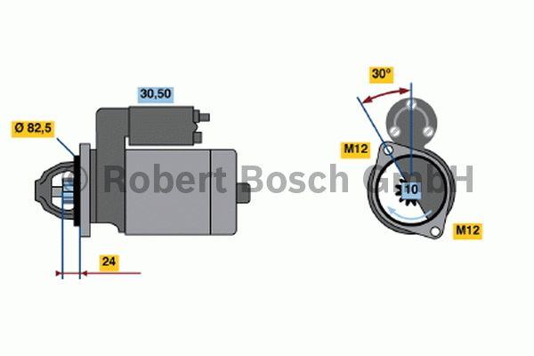 Démarreur - BOSCH - 0 001 363 120