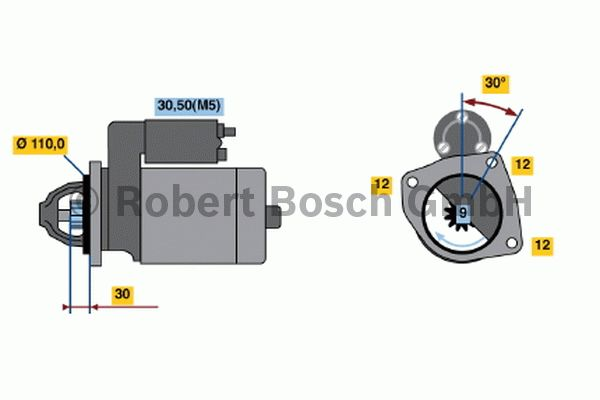Démarreur - BOSCH - 0 001 363 122