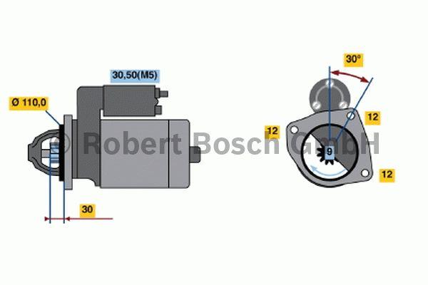 Démarreur - BOSCH - 0 001 363 130