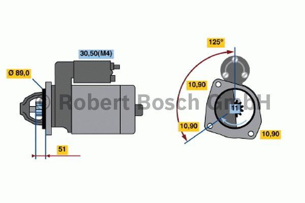 Démarreur - BOSCH - 0 001 364 300