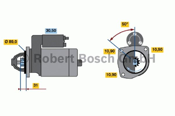 Démarreur - BOSCH - 0 001 365 004