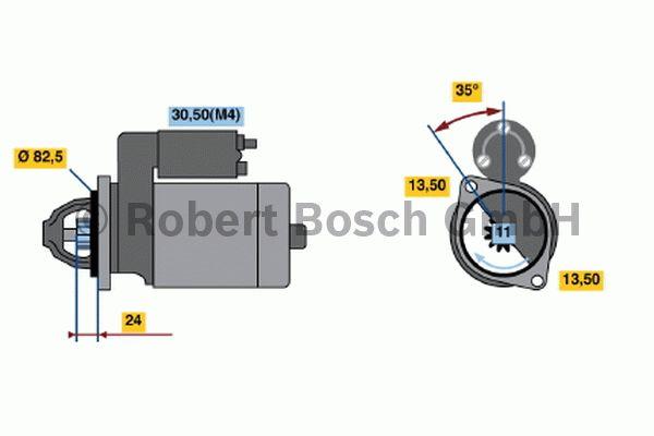 Démarreur - BOSCH - 0 001 367 008