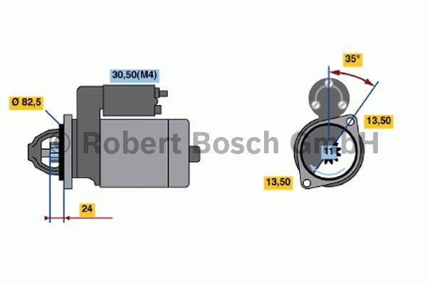 Démarreur - BOSCH - 0 001 367 013