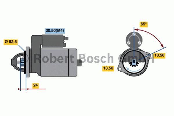 Démarreur - BOSCH - 0 001 368 012