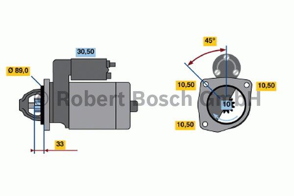 Démarreur - BOSCH - 0 001 367 022