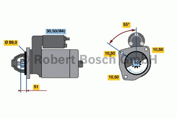 Démarreur - BOSCH - 0 001 367 054